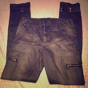 Tory Burch Brown Jean Slim Cargo Pant Sz 27